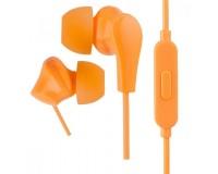 Наушники с микрофоном Perfeo ALPHA PF-A4936 внутриканальные, кабель 1, 2м , сменные насадки, коробка, оранжевые