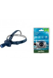Фонарь налобный Perfeo PF-4023/ LT-002 100LM 1 светодиод 3*AAA, 1W, Zoom, 3 режима, пластик