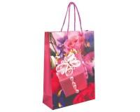 Пакет подарочный GRANDGIFT 601011 22х31х9 см, см. ламинированный, вертикальный, женский, ассорти