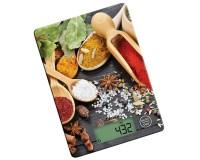 Весы кухонные Atlanta ATH-6215 электронные, цена деления 1 г. max 5 кг. яркий дисплей, сенсорные кнопки, замеряет объем воды, автоотключение, красные