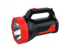 Фонарь-прожектор Спутник AFP808-5W 1х5Вт+12х4.2Вт светодиодиодов, аккумулятор 3500mAh 4V красный/чёрный