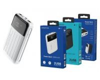 Портативное зарядное устройство Borofone BT21 10000 мАч 1USB выход 5В/2А, 2USB выход 5В/2А, суммарный 5В/2А, белый