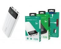 Портативное зарядное устройство Borofone BT21A 20000 мАч 1USB выход 5В/2А, 2USB выход 5В/2А, суммарный 5В/2А, белый