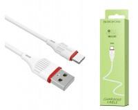 Кабель Type-C Borofone длина 1м, USB2.0, 2, 0А, коробка, белый (BX17 Enjoy)