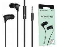 Наушники с микрофоном Borofone BM26 Rhythm вкладыши, кабель 1, 2м, коробка, черный