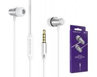Наушники с микрофоном Borofone BM29 Gratified внутриканальные, кабель 1, 2м, коробка, серебро