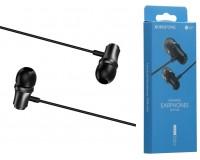 Наушники с микрофоном Borofone BM29 Gratified вкладыши, кабель 1, 2м, коробка, черный