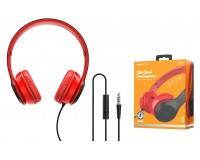 Наушники с микрофоном Borofone BO5 Star sound накладные, кабель 1, 2м, коробка, красный