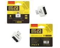 Переходник Earldom ET-OT03 штекер MicroUSB - гнездо USB, OTG, серебро, коробка,