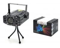 Световая установка Огонек OG-LDS06 лазер зелёный 532 нм, красный 650нм, плеер, USB/SD, датчик звука, черный