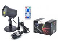 Световая установка Огонек LD-205 Лазерный диод: зелёный 532 нм(50mW), красный 650нм (100mW), IP65, помещение и улица