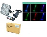 Световая установка Огонек LD-212 Светодиоды: синие 5шт, зеленые 5шт, красные 7шт, датчик звука, помещение