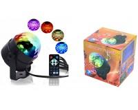 Световая установка Огонек LD-213 цвет подсветки: RGB, размеры: 11х11, 5 cм, датчик звука
