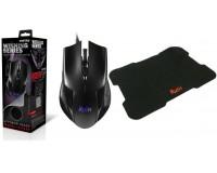 Игровой набор SmartBuy SBM-726G-K мышь+ковер, неоновая подсветка корпуса мыши, коробка