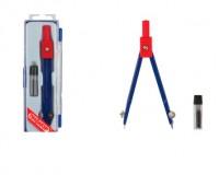 Готовальня Пифагор 210237 ( циркуль 110 мм , грифель) 2 предмета в пластиковом пенале