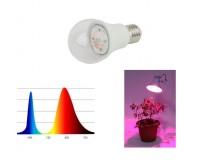 Светильник FITO светодиодная лампа для рассады Эра FITO-14W-RB-E27-K 14 21 E27, LED 2385, IP20, угол половинной яркости 120 гр, красно-синий спектр