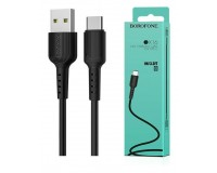 Кабель Type-C Borofone длина 1м, USB2.0, 2, 0А, коробка, черный (BX16 Easy)