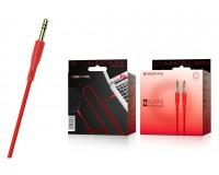 Кабель Jack 3.5 штекер-штекер Borofone длина 1м, коробка, красный BL1 Audiolink