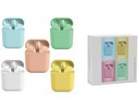 Наушники беспроводные - inPods 12 вкладыши, Bluetooth, беспроводные, пенал для зарядки, аккумулятор 50 мАч розовые