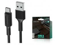 Кабель Type-C Borofone длина 1м, USB2.0, 2, 0А, коробка, черный (BX1 EzSync)