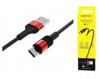 Кабель Type-C Borofone длина 1м, USB2.0, 3А, коробка, красный (BX21 Outstanding)