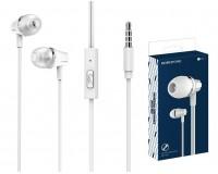 Наушники с микрофоном Borofone BM21 Graceful вкладыши, кабель 1, 2м, коробка, белые