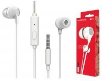 Наушники с микрофоном Borofone BM28 Tender sound внутриканальные, кабель 1, 2м, коробка, белые
