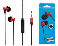 Наушники с микрофоном Borofone BM35 Farsighted вкладыши, кабель 1, 2м, коробка, красный