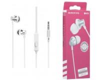 Наушники с микрофоном Borofone BM35 Farsighted вкладыши, кабель 1, 2м, коробка, серебро