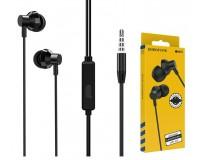 Наушники с микрофоном Borofone BM35 Farsighted внутриканальные, кабель 1, 2м, 3, 5мм 4-pin Jack, кнопка вызова, металл, коробка, черный