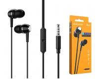 Наушники с микрофоном Borofone BM36 Acura вкладыши, кабель 1, 2м, коробка, черный