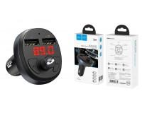 FM трансмиттер HOCO E41 12-24В, USB/microSD, автомобильный, Bluetooth, USB зарядка 2100 mA, коробка, черный