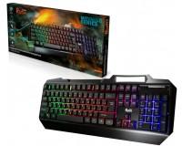Клавиатура игровая SmartBuy SBK-310G-K RUSH Armor USB Black 104 клавиши (19 Anti-Ghost) мультимедийная, с подсветкой RGB