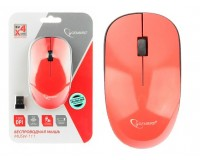 Мышь беспроводная Gembird MUSW-111-RG USB Optical (1200 dpi) черный/розовый 2 кнопки+кнопка-колесо, с трёхуровневой системой энергосбережения, размер 113х64х30 мм. блистер