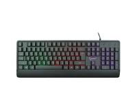 Клавиатура Gembird KB-220L USB Black, 104 клавиши подсветка Rainbow, кабель 1, 5м.