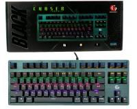 Клавиатура игровая Gembird KB-G540L USB Black 87 клавиш (Механические клавиши Outemu Blue) 9 режимов подсветки, защитой от фантомных нажатий, металлический корпус