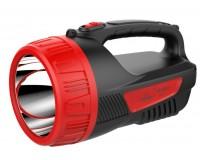 Фонарь-прожектор Спутник AFP821-5W 1х5Вт светодиод, аккумулятор 2500mAh 4V красный/чёрный