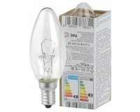 Лампа Эра B36 40Вт E14 свеча прозрачная 230V в гофре