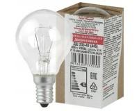 Лампа Эра A45 40Вт E14 шар прозрачный 230V в цветной гофре(ДШ 230-40 Е 14 )