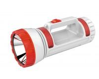 Фонарь-прожектор Спутник AFP807-5W 1х5Вт+30 (6Вт) светодиодиодов, аккумулятор 1100mAh 4V разъём для заряда мобильных устройств (Power bank), красный/серый