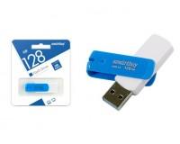 Флэш диск 128 GB USB 3.0 SmartBuy Diamond Blue выдвижной