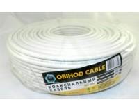 Кабель коаксиальный OBIHOD длина 100м, омедненный 75 Ом, белый, RG-6