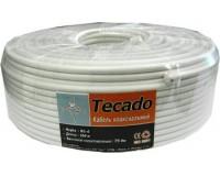 Кабель коаксиальный TECADO длина 100м, омедненный 75 Ом, белый, RG-6