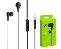 Наушники с микрофоном Borofone BM24 Milo внутриканальные, кабель 1, 2м, коробка, черные
