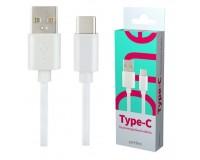 Кабель Type-C Perfeo длина 1м, USB2.0 / USB 3.1, коробка, белый (U4704)