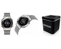 Часы наручные Sanda 383G электронные (дата, будильник, секундомер), сталь, стекло, подсветка