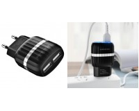 Зарядное устройство Borofone BA24A Vigour 2100 mA USB 2хUSB, 5 В, выходной ток: USB1-2, 1А, USB2-2, 1A, общий ток 2, 1А черный, коробка