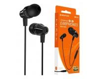 Наушники с микрофоном Borofone BM38 Bright sound вкладыши, кабель 1, 2м, коробка, черный