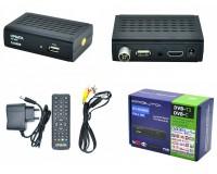 Цифровой телевизионный ресивер Орбита OT-DVB03 DVBT2/C + медиаплеер HD 1080p, Wi-Fi: требуется внешний USB адаптер (совместим с чипами MT7601), внешний блок питания