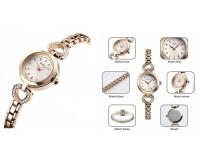 Часы наручные Skmei 1408 золото женские, стрелочные, сталь